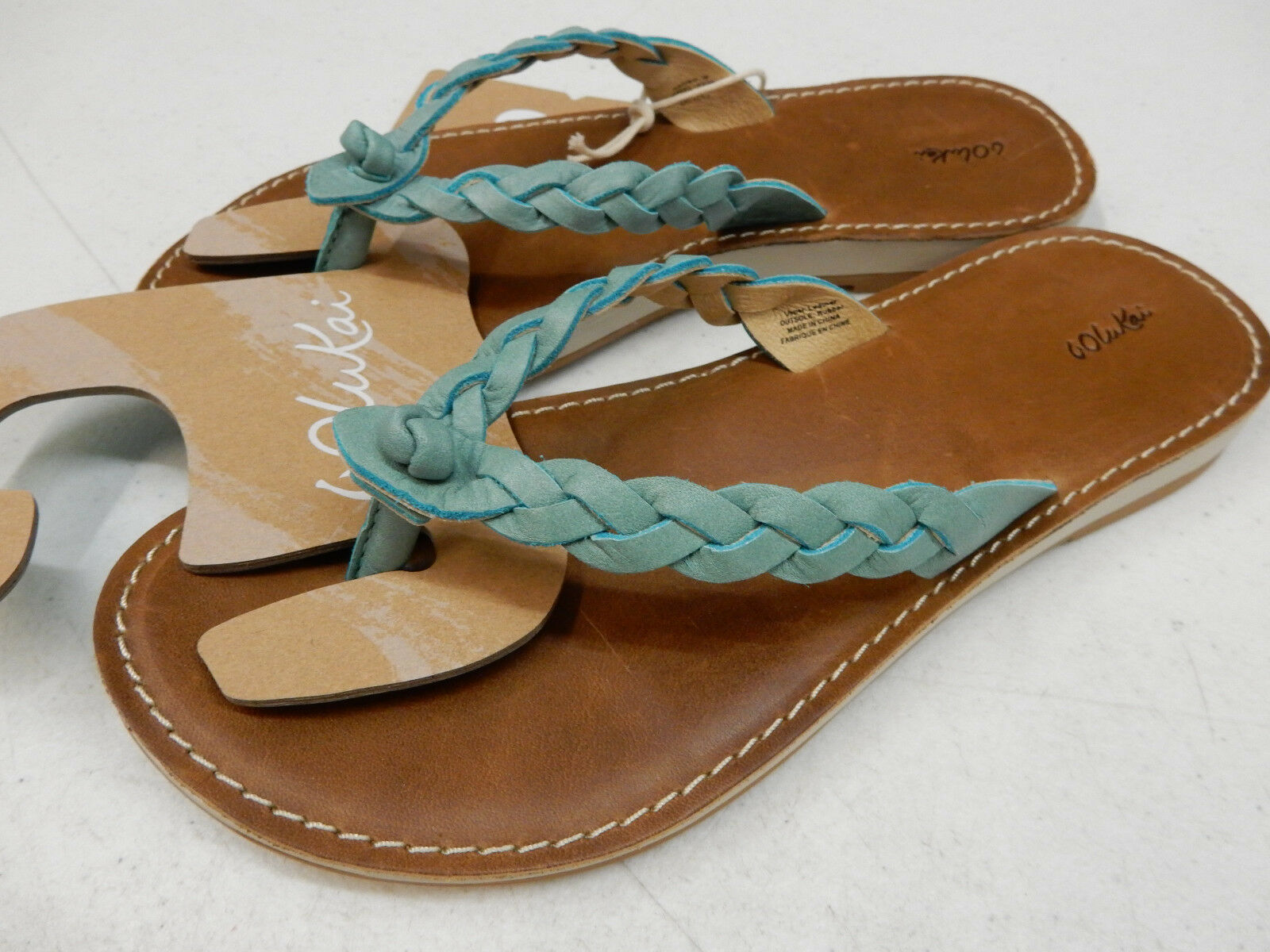 OLUKAI WOMENS SANDALS KAHIKO SEA TAN SIZE SIZE SIZE 6 a4e368