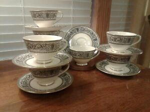 ROYAL-DOULTON-FINE-BONE-CHINA-H-4999-BARONET-TEACUPS-AND-SAUCERS-8-AVAILABLE