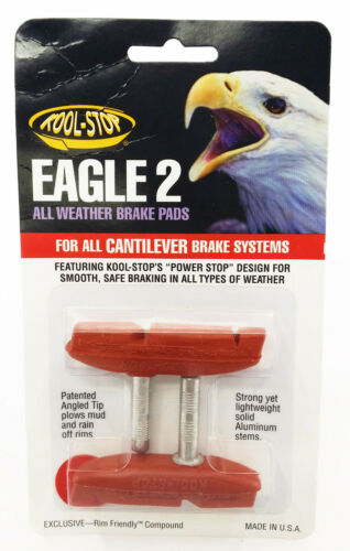 KOOL STOP EAGLE CLAW II Cantilever Brake Pads lisse Post SALMON composé
