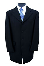 "EX-HIRE 100% Herringbone Wool Prince Edward Jacket 40"" Long"