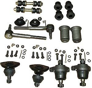 8 PC KIT Ball Joints Tie Rod Ends BelAir Camino Impala Caprice 65-70
