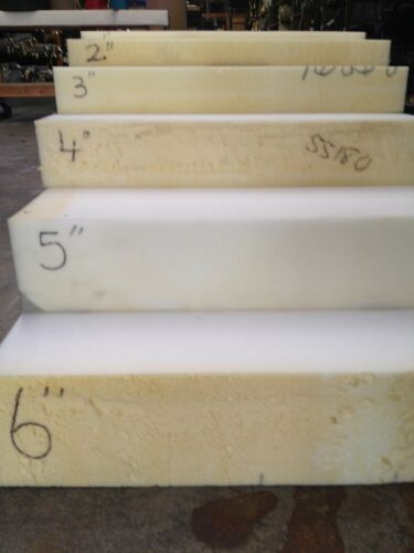 """High Density Seat Foam Rubber 4/""""x24/""""x82/"""" replacement upholstery cushion firm"""