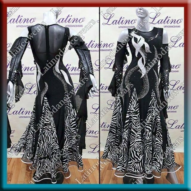 LATIN RHYTHM SALSA BALLROOM COMPETITION DANCE DRESS - SIZE S, M, L (ST207)