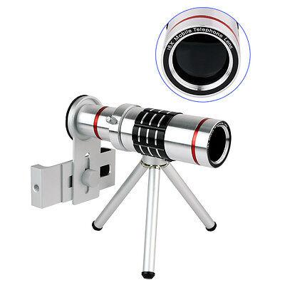 18X Universal Zoom Optical Telescope Camera Telephoto Lens+Tripod Holder for HTC