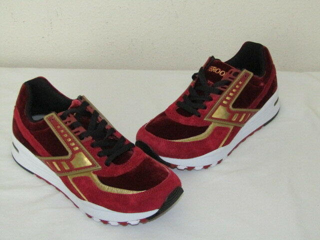 BROOKS REGENT SUEDE Mens Sneakers RED DAHLIA gold 1102051D662 Size 9.5