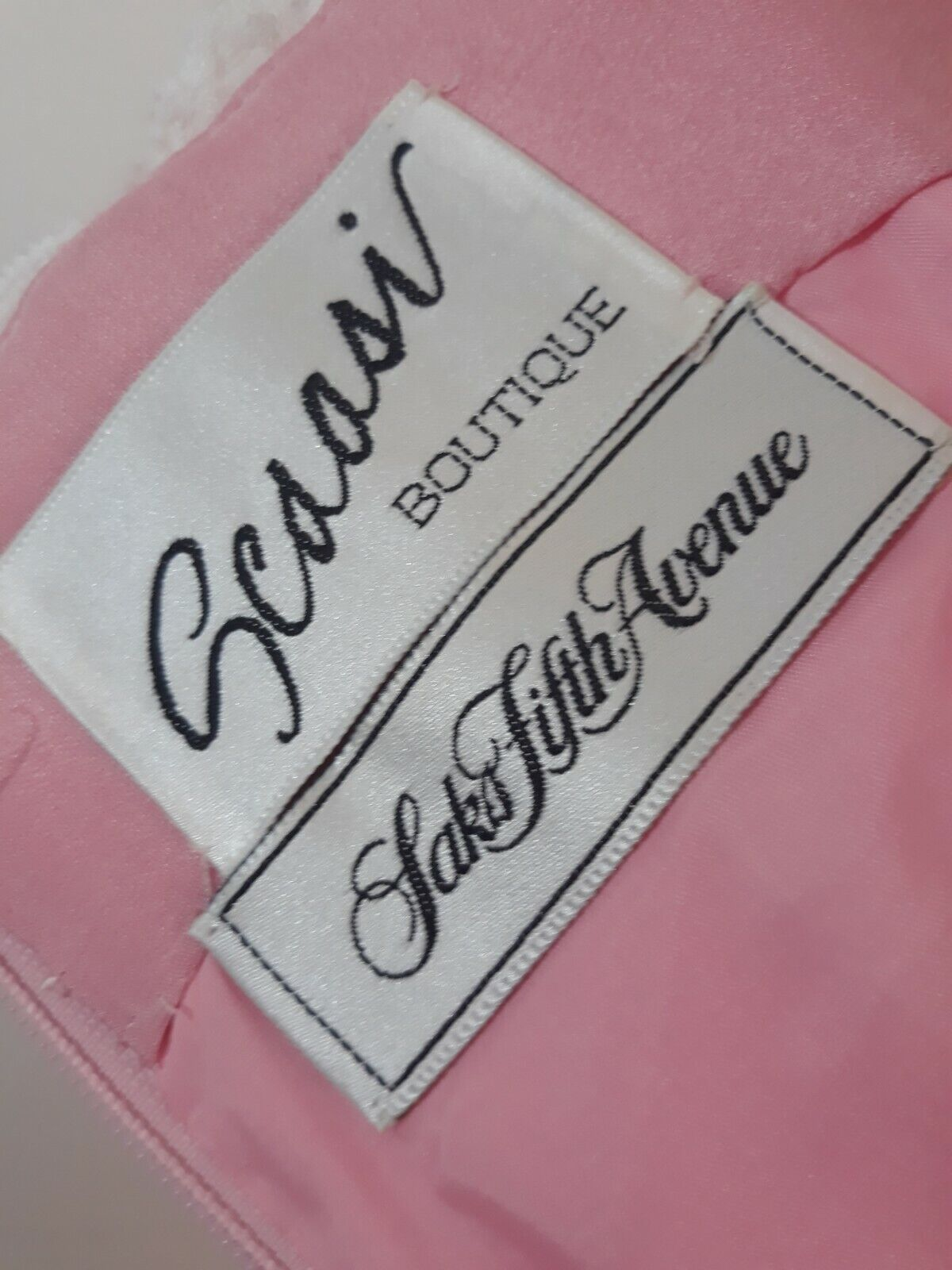 Vintage 80s  Scaasi Boutique Sax Fifth Ave Pink& … - image 9