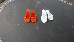 JAPAN Vintage Barbie Red Open Toe OT Heels Shoes Mules