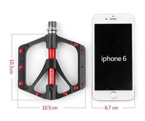 Titanium Aluminium MTB Mountain Road Bike 3 Bearings Pedals Flat Platform Pedal