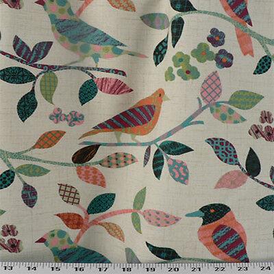 Duck and Pheasant Print Drapery Upholstery Fabric P Kaufmann Game Birds CL Dusk