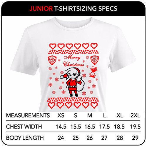 Noël The Legend of Zelda Santa Hommes Femmes Juniors Filles Unisexe Tee T-Shirt