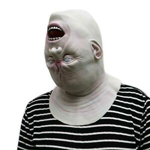 Adult Head Down Full Novelty Halloween Scary Cosplay Costume Party Latex Mask
