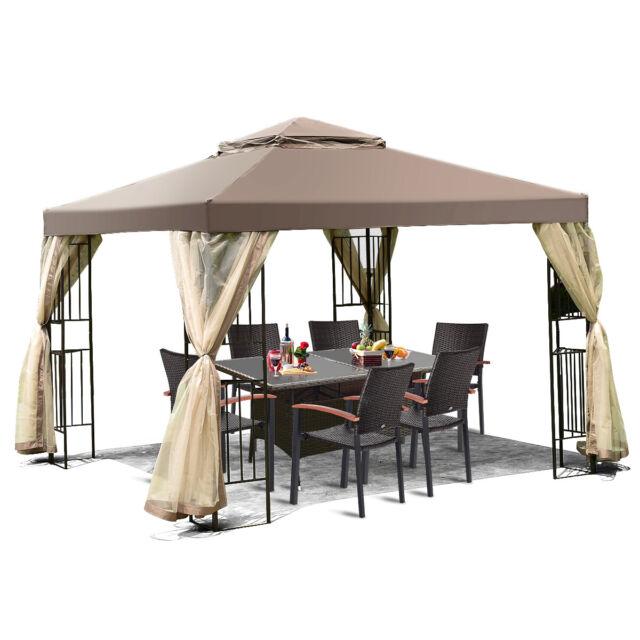 Sunshade 8 Feet Awning Gazebo Outdoor Patio Tent Sun Proof Garden Structure For Sale Online Ebay