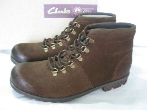 NEW CLARKS DARIAN HEATH LEATHER ANKLE BOOTS SIZE  8.5 /& 9.5 /& 7 /& 8