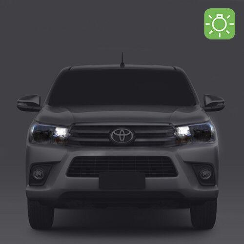 feux de position  pour Toyota Hilux 2 ampoules à LED blanc  veilleuses