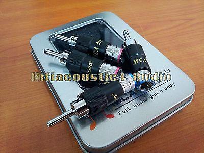 4x MC Speaker Cable Banana Rhodium Plated Terminal Connector Plug 9mm hifi amp