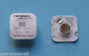 2-x-Renata-395-SR57-1-5V-V395-SR-57-D-395-SR927SW-UHRENBATTERIE-SR927-AG7