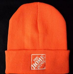 7fa79ffc83a THE HOME DEPOT Knit Beanie Winter Hat Toque Skull Cap NEW ORANGE ...