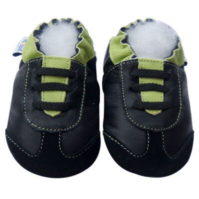 Free Shipping Littleoneshoes Soft Sole Leather Baby AthleticGreen Shoe 12-18M