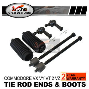 Power-Steering-Rack-Boots-Tie-Rod-Ends-SET-FOR-Holden-1VX-VY-Commodore-999-2004