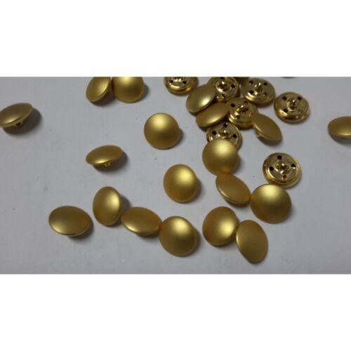 7623 n 10 bottoni rotondi in metallo colore oro opacoi cm 1,5 foro dietro