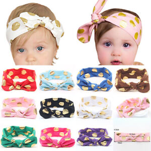 Band Girl Boy Turban Multicolor Bow Hairband Headband Knot Rabbit For Baby