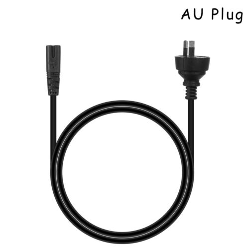 8 Mains Power Cable 2 Pin Lead Cord AC Wire Line IEC C7 For XBOX PS4 Laptop