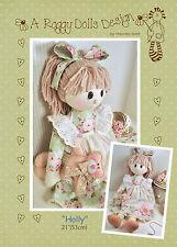 HOLLY - Rag Doll Sewing Craft PATTERN - Shabby Chic Cloth Doll Bear