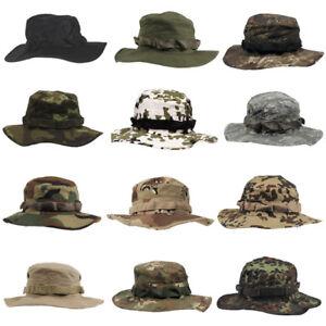 Tactical Bucket Hat Bush Jungle Boonie Mens Wide Brim Combat Woodland Sun Cap
