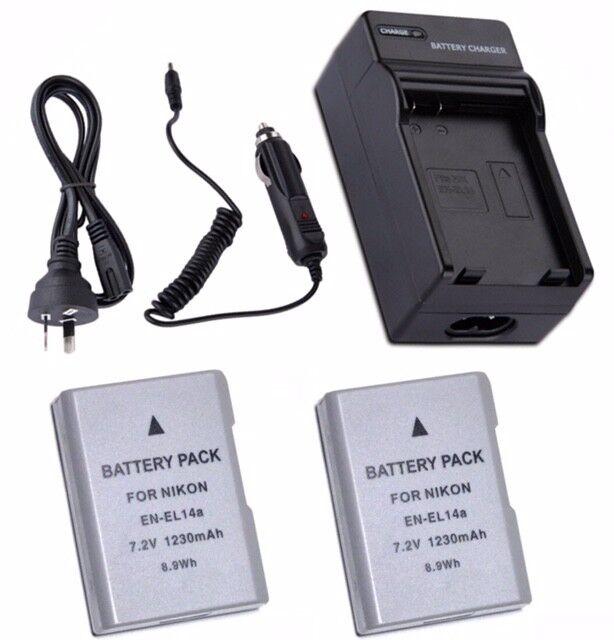 EN-EL14A Battery / Charger For Nikon Df D5300 D3300 D5300 D3400 Digital Camera