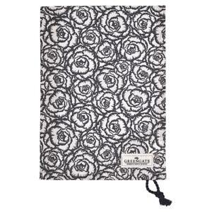 GreenGate-DK-Gate-Noir-Tea-Towel-in-Blossom-Grey