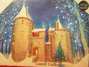 Castell Coch in the snow - Light up Painting / canvas - Tony Paultyn