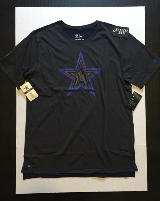 NFL Dallas Cowboys Nike Dri Fit Gray Navy Travel Mesh T-shirt Shirt Men s XL 6984a4bc9
