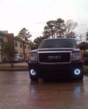 White Halo Fog Lamps Driving Light Kit for 2007-2013 GMC Sierra 1500 & Denali