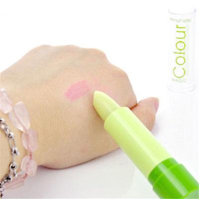 Lady Magic Fruity Smell Changable Color Lipstick Lip Cream Waterproof New