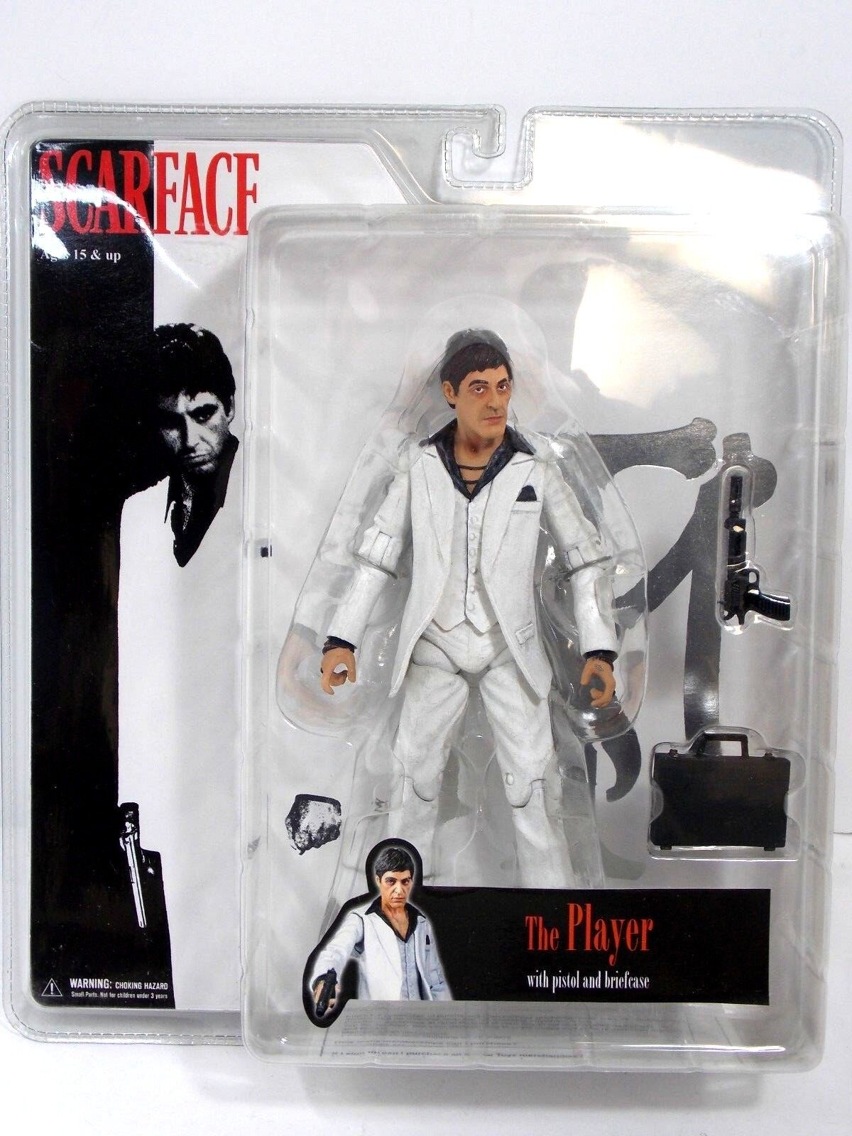 MEZCO SCARFACE ACTION FIGURE THE PLAYER Weiß SUIT SEALED