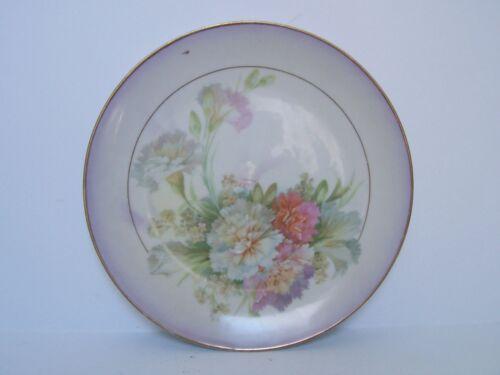 Royal Rudolstadt Prussia Pink Orange White Floral Porcelain Plate Signed
