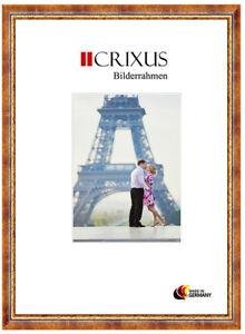 CRIXUS40-Echtholz-Bilderrahmen-Antik-Rot-Gold-Barock-Foto-Rahmen-B-23-453