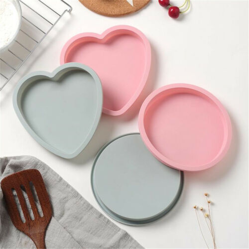 6Inch Cake Mold Silicone Heart Round Mousse Bread Pan Bakeware Mould Baking Tray