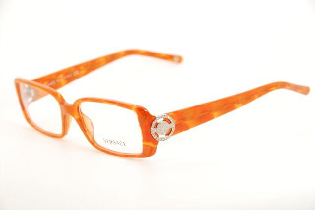 Authentic Versace Mod 3092-b 656 Orange 51mm Frames Eyeglasses RX ...