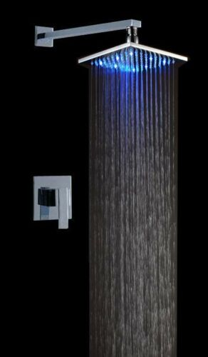 """Led Shower Set with 10/"""" Stainless Steel Shower Head by Fontana Showers"""
