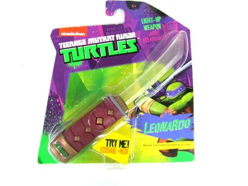 TMNT Teenage Mutant Ninja Turtle Light Up Mini weapon Kids Toy Leonardo Sword
