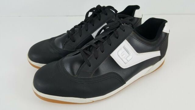 Footjoy Mens Greenjoys Spikeless Closeout Golf Shoes 45332 White Grey Charcoal 13 M For Sale Online Ebay