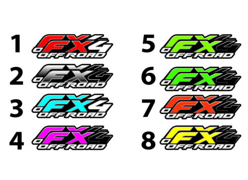 "FX4 Off Road Truck Bed Decal Set For Ford F150 Raptor SIDE Stickers 15/""X4/"" 2"