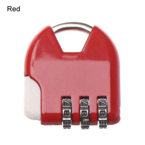 Gym Combination Code Luggage Password Lock Security Tool Padlock 3 Digit Dial
