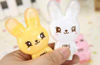 Cute Bunny Correction Tape  with Eraser 2 in 1 Rabbit stationery school  UK