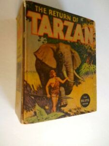 1936-The-Return-of-Tarzan-BLB-Big-Little-Book-1102-Fine