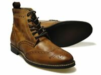 Red Tape Glaven Brown Leather Brogue Boots UK 6-12 RRP �50 Free UK P&P