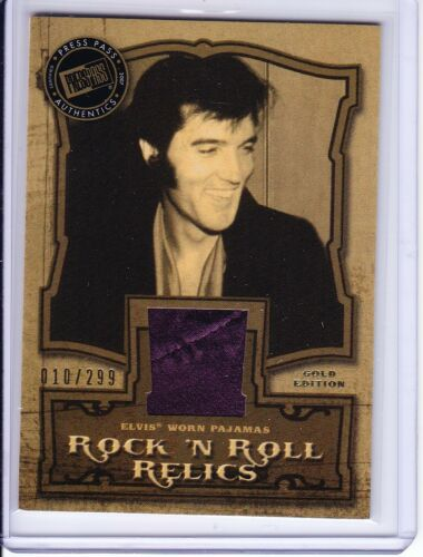 2007 Press Pass Elvis Presley The Music Rock N Roll Relic Gold Edition 010/299