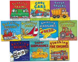 Amazing-Machines-Truckload-Children-Collection-Tony-Mitton-10-Books-Set-Cool-Car