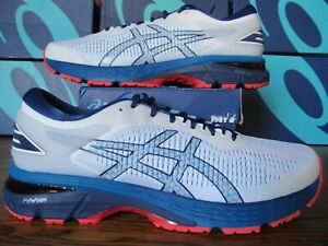 new arrival top-rated latest sale usa online Details about Asics Gel Kayano 25 $160 White Blue Red 3M 11.5 1011A019 100  Running Shoes usa